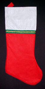 Green & Gold Trim Christmas Stockings
