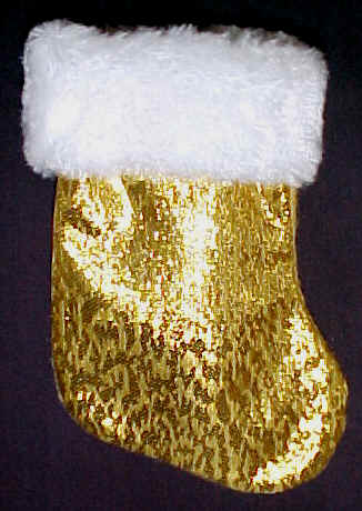 Mini Christmas Stockings that are GOLD