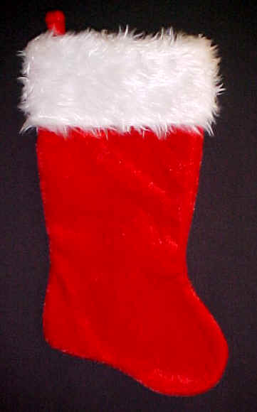 Faux Fur Top Christmas Stocking