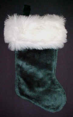 Green Plush Large Christmas Stockings