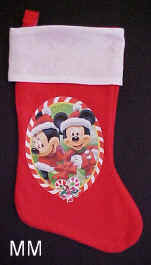 Mickey and Minnie Mouse Christmas Stockings