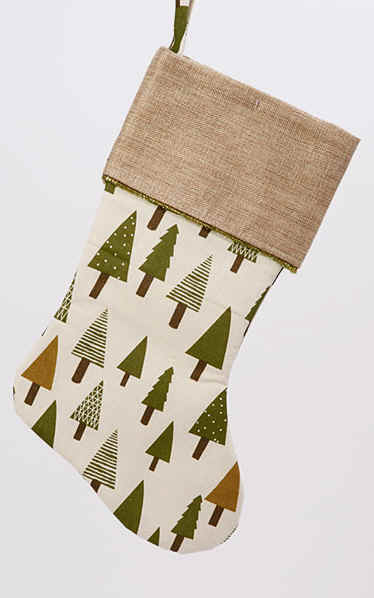 Forest Trees Christmas stockings