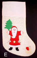 Old Time Santa x-mas Stocking