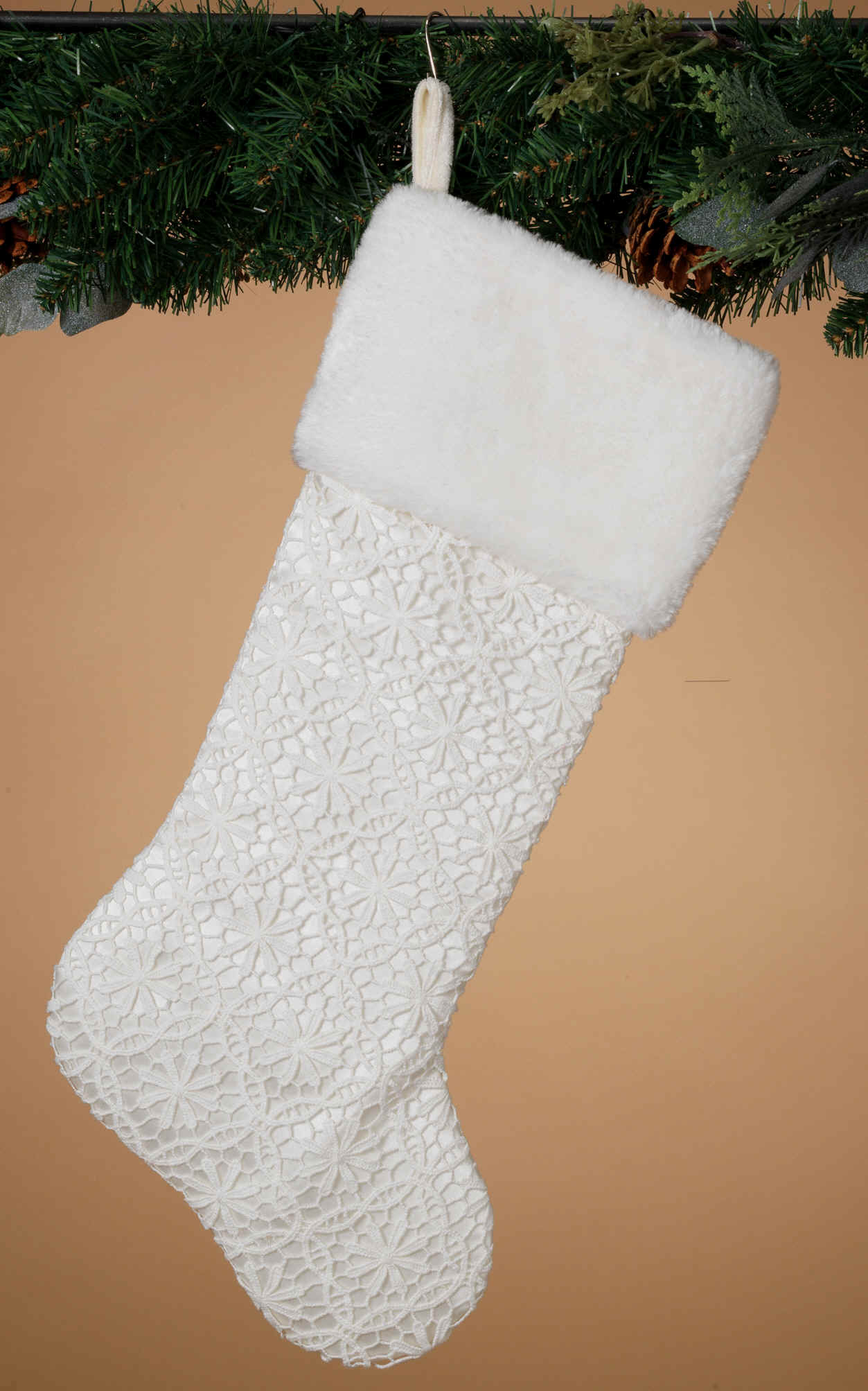 Lace Christmas stocking
