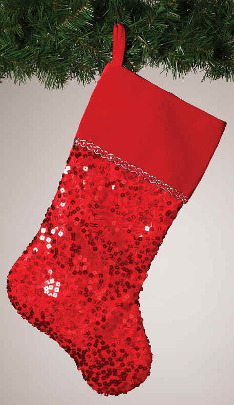 red sequin xmas stockings