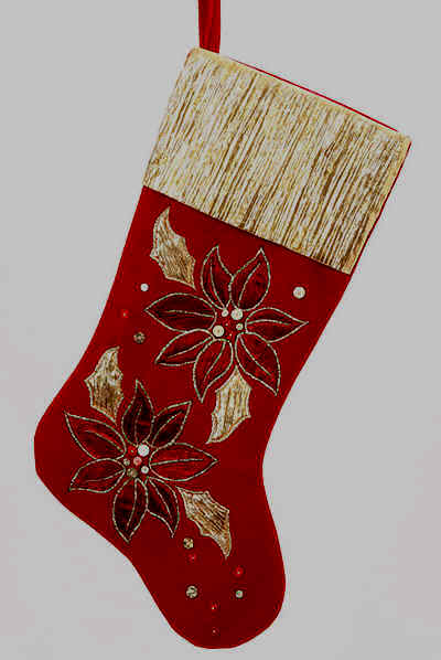 Poinsettia Christmas Stockings