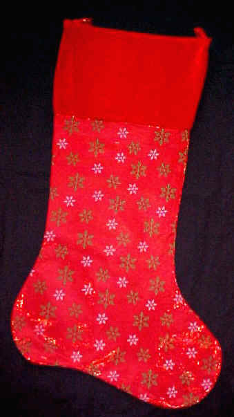 Red Glitter Sparkle Big Christmas Stocking 36""