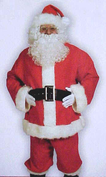 Complete 10 Piece Santa Suits