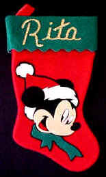 Mickey Mouse Felt Christmas Stockings