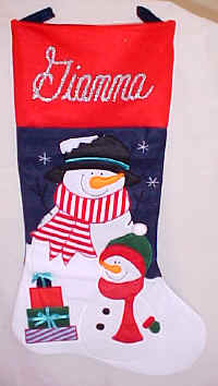 Jumbo Snowman Christmas Stocking
