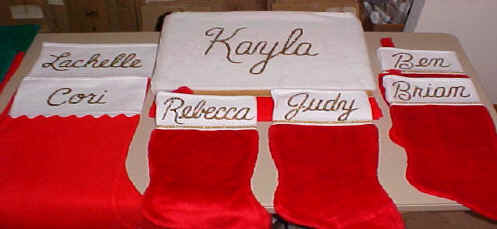 Personalized Samples Stockings